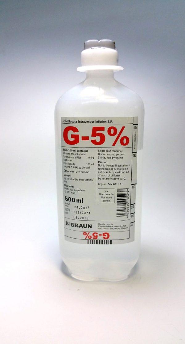 GLUCOSE IV 500ML