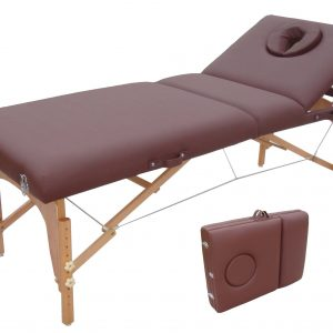9045 SURGICO WOOD MASSAGE COUCH GREEN